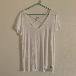 VS PINK white tee with neck cross
